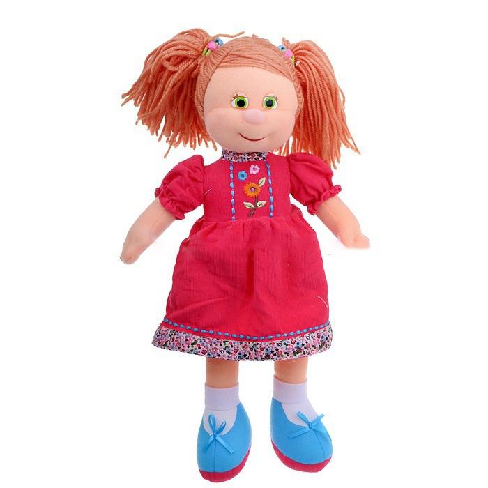Кукла Варенька в вельветовом платье музыкальная 22 см - Мягкие куклы, артикул: 170375