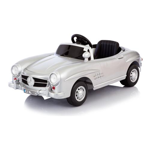 Серебристый детский электромобиль Mersedes 300SL W198Электромобили, детские машины на аккумуляторе<br>Серебристый детский электромобиль Mersedes 300SL W198<br>