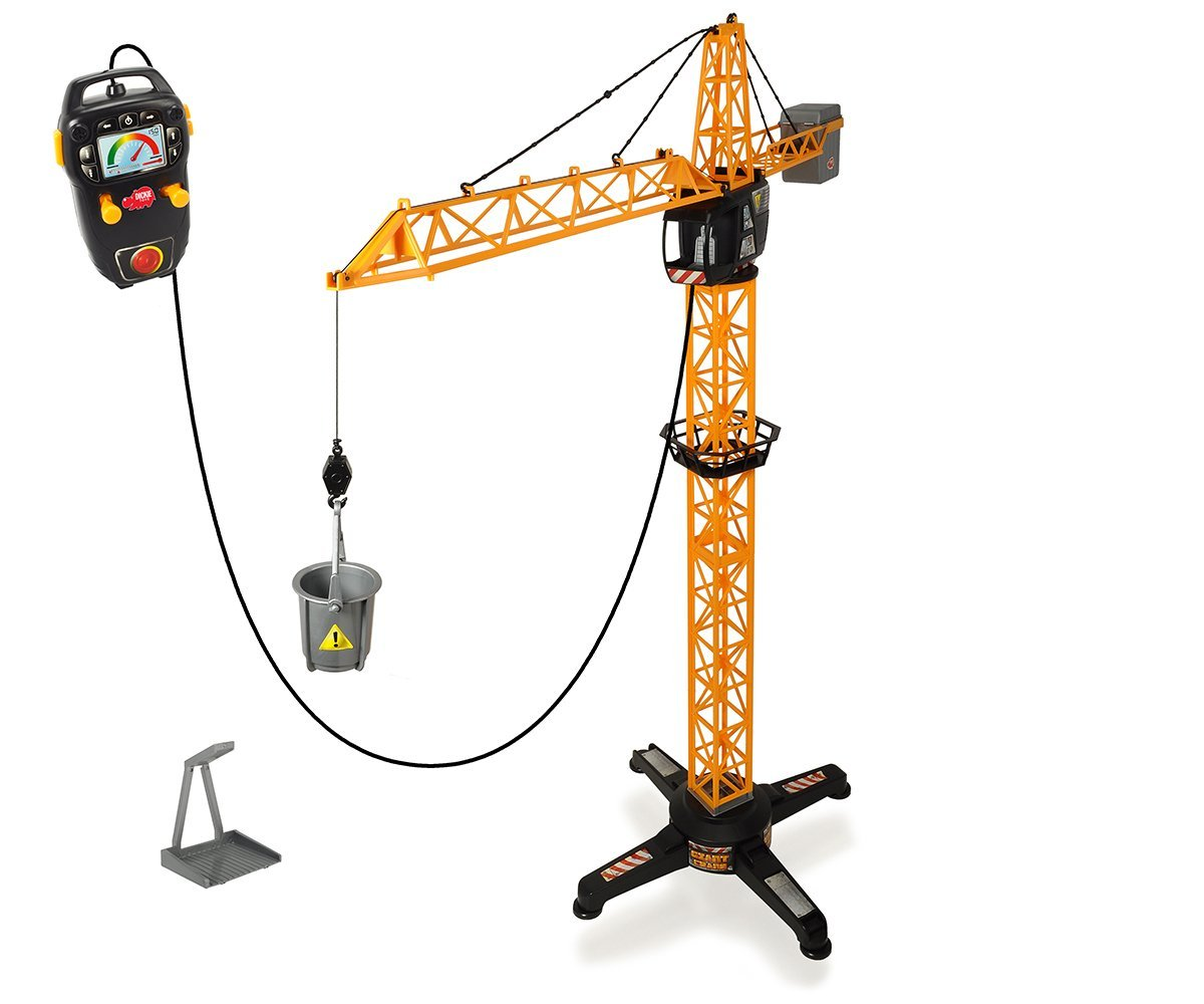 Кран на дистанционном управлении, с платформой и лебедкой, 100 см. Dickie Toys