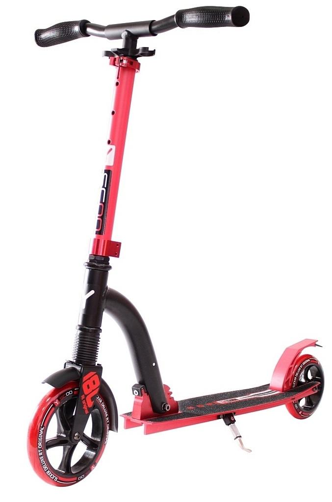 Купить Двухколесный самокат Y-Scoo RT 180 Slicker с амортизатором Deluxe, красный