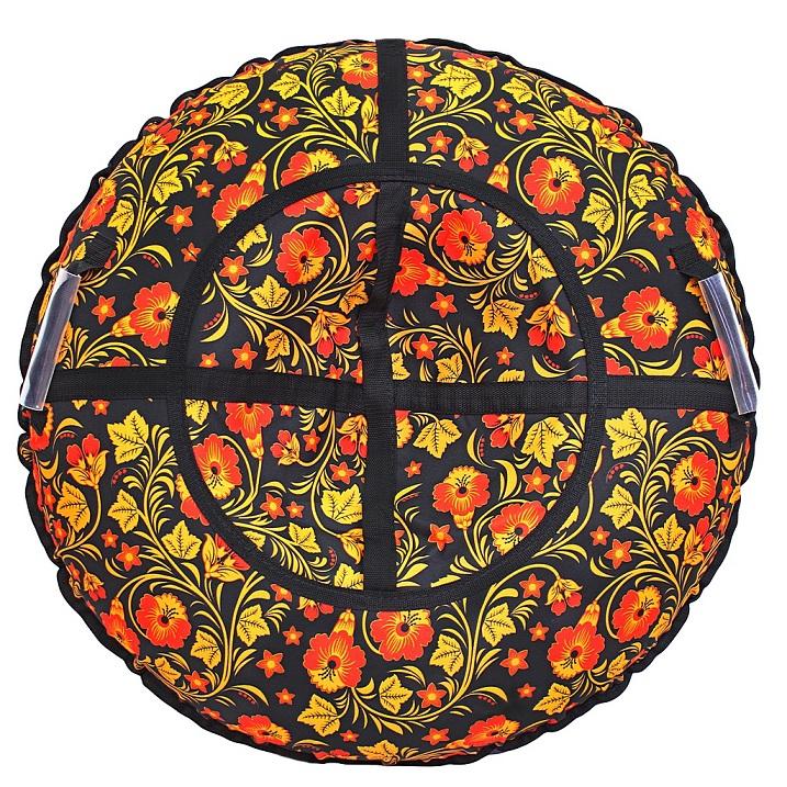 Купить Санки надувные Тюбинг, дизайн - Узор Хохлома, автокамера, диаметр 110 см., RT