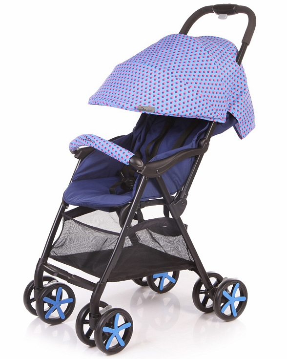 Коляска прогулочная Carbon, голубаяДетские коляски Capella Jetem, Baby Care<br>Коляска прогулочная Carbon, голубая<br>