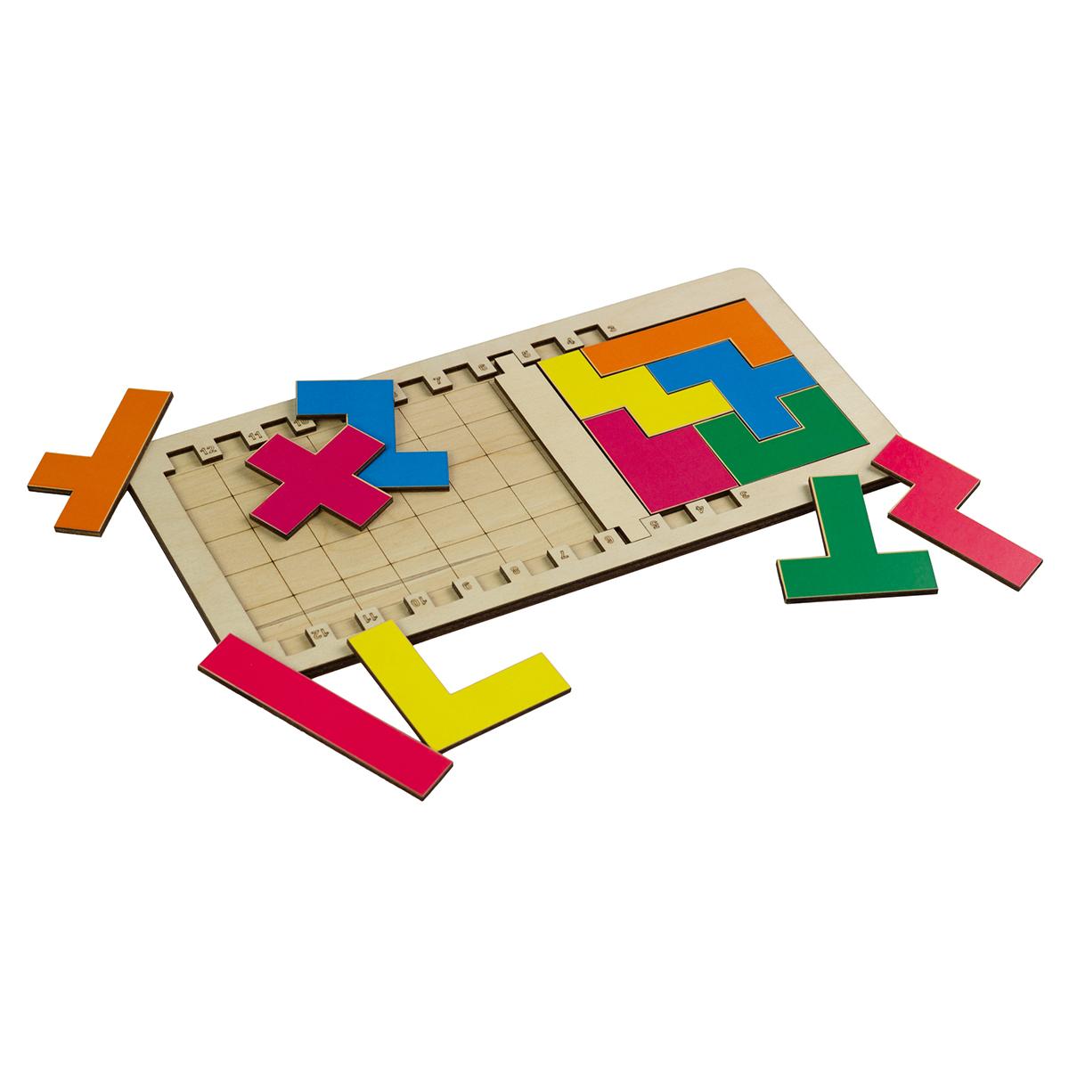 Игровой набор Тетрис, деревянный фото
