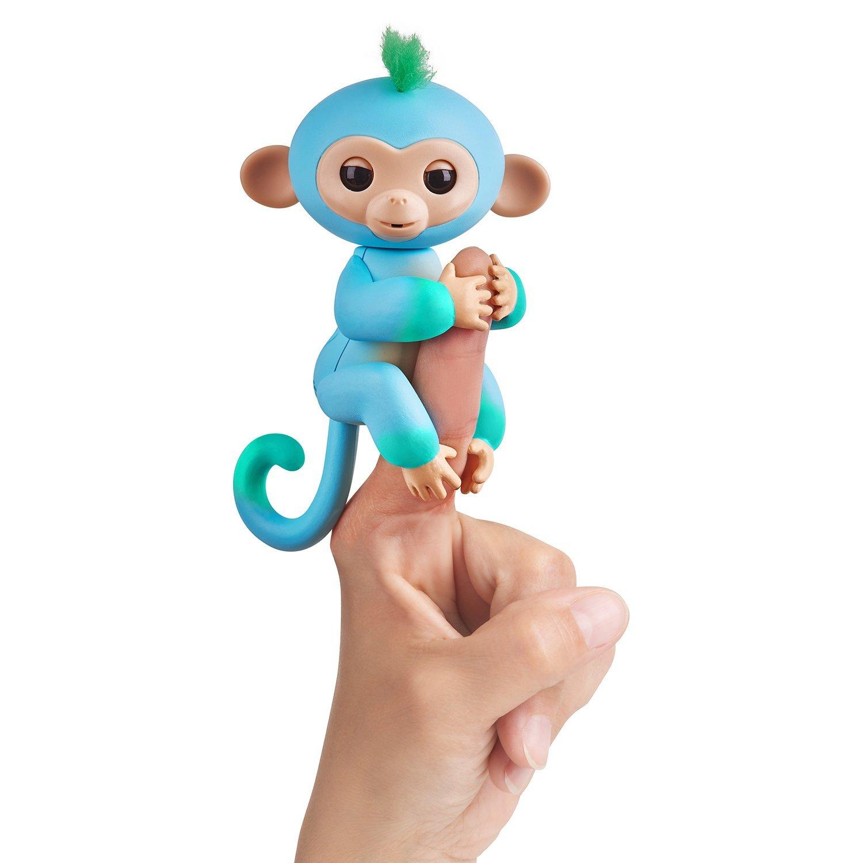 Интерактивная обезьянка Чарли, цвет - голубая с зеленым, 12 см., WowWee  - купить со скидкой