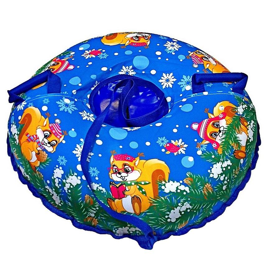 Санки надувные Тюбинг Эксклюзив - Белки, автокамера, диаметр 100 смВатрушки и ледянки<br>Санки надувные Тюбинг Эксклюзив - Белки, автокамера, диаметр 100 см<br>