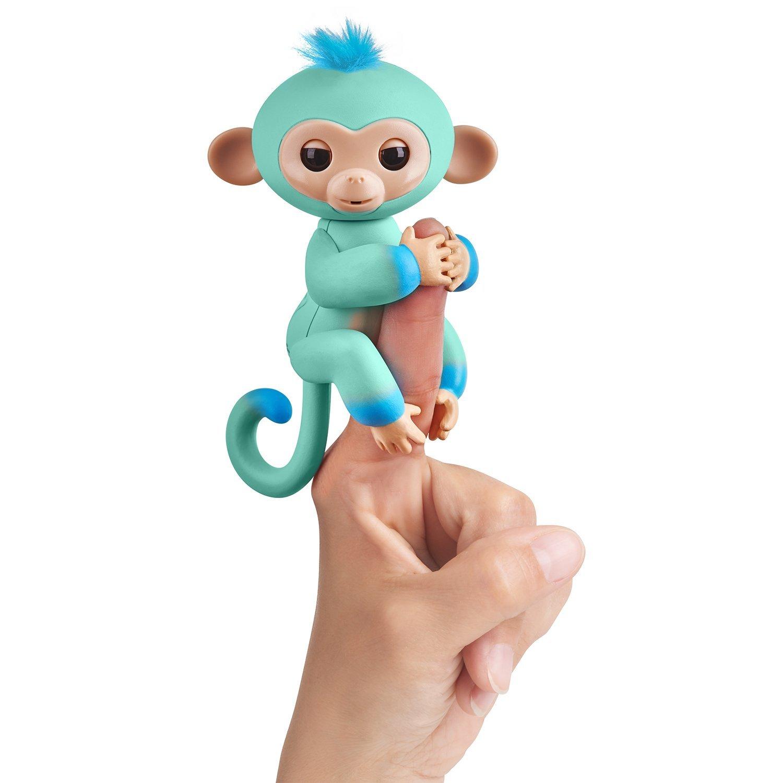 Купить Интерактивная обезьянка Эдди, голубая, 12 см, WowWee
