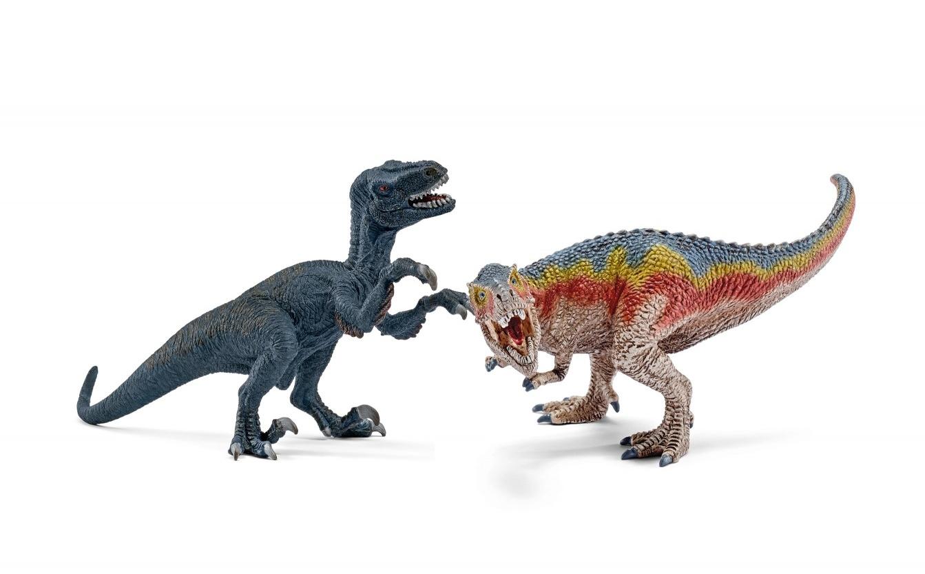 Набор мини фигурок - Т-рекс и ВелоцерапторЖизнь динозавров (Prehistoric)<br>Набор мини фигурок - Т-рекс и Велоцераптор<br>