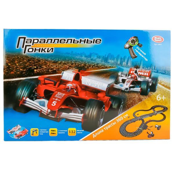 Трек с машинками и ручным генератором, 360 смАвтотреки и авторалли<br>Трек с машинками и ручным генератором, 360 см<br>