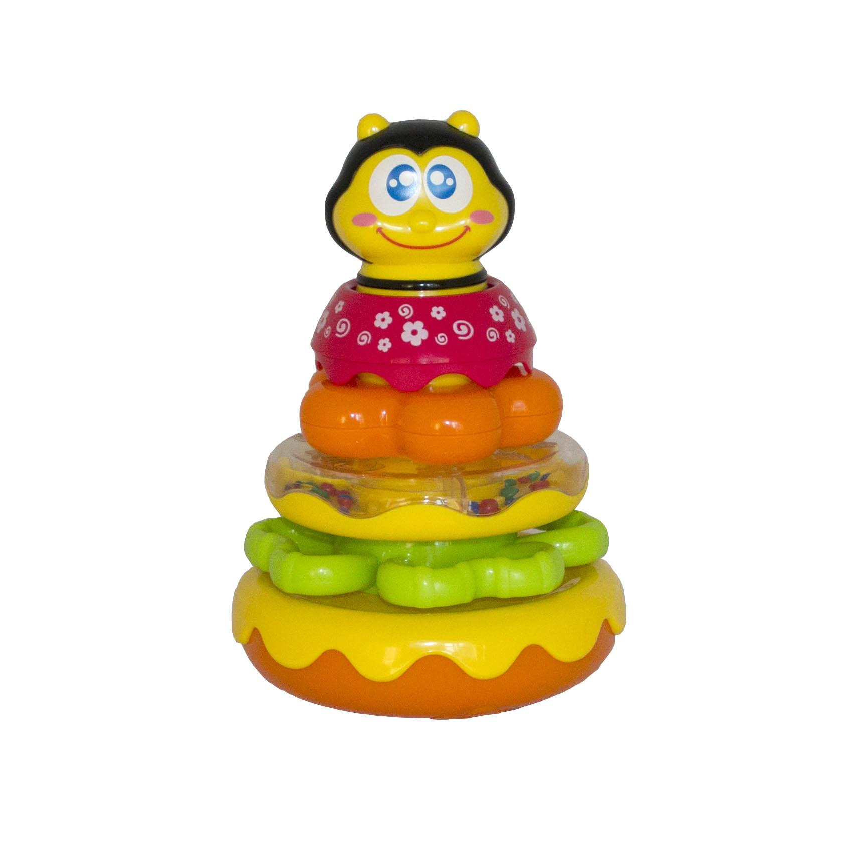 Музыкальная пирамидка - ПчелкаСортеры, пирамидки<br>Музыкальная пирамидка - Пчелка<br>