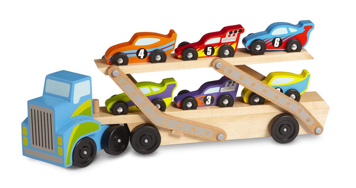 Погрузчик с машинками из серии Классические игрушкиСортеры, пирамидки<br>Погрузчик с машинками из серии Классические игрушки<br>