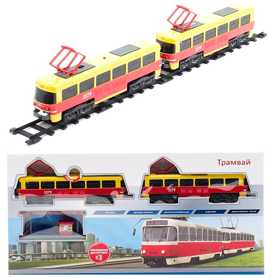 Играем Вместе. Железная дорога Трамвай, свет и звукДетская железная дорога<br>Играем Вместе. Железная дорога Трамвай, свет и звук<br>