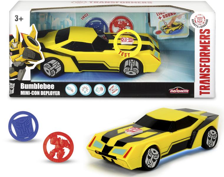 Купить Боевая машинка Bumblebee из серии Трансформеры, со светом и звуком, 20 см., Dickie Toys