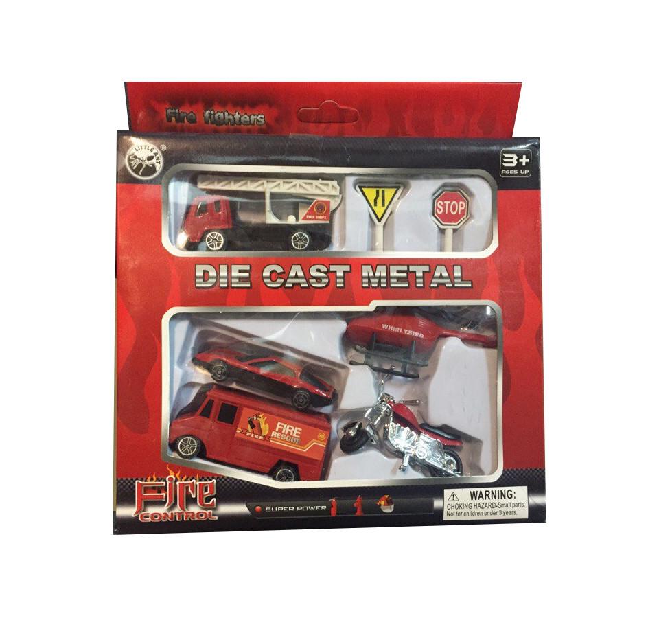 Купить Набор металлических машинок – Пожарные, 7 предметов, JUNFA TOYS