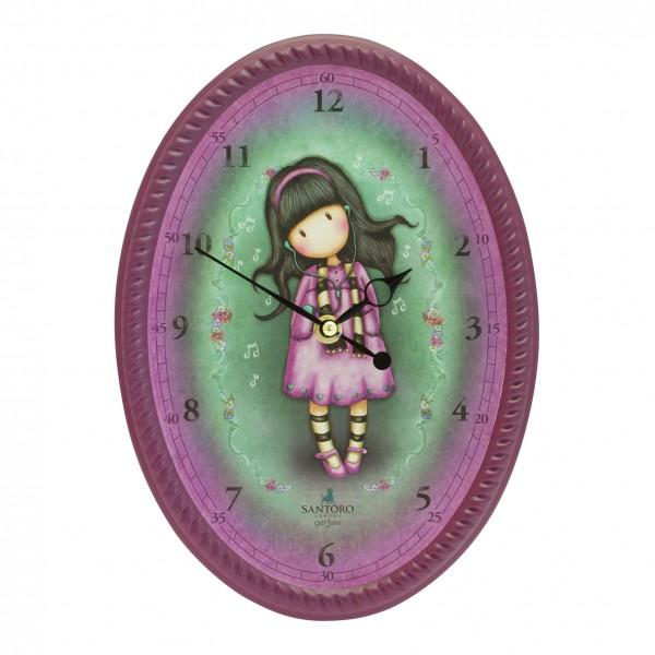 Овальные настенные часы – Little SongДетские часы<br>Овальные настенные часы – Little Song<br>