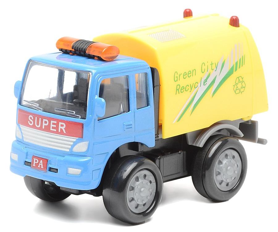 Грузовик-мусоровоз инерционный, металлическая кабина, 1:60Городская техника<br>Грузовик-мусоровоз инерционный, металлическая кабина, 1:60<br>