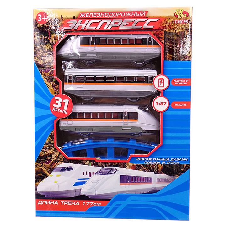 Железная дорога - Экспресс, 177 см, 31 предмет )Детская железная дорога<br>Железная дорога - Экспресс, 177 см, 31 предмет )<br>