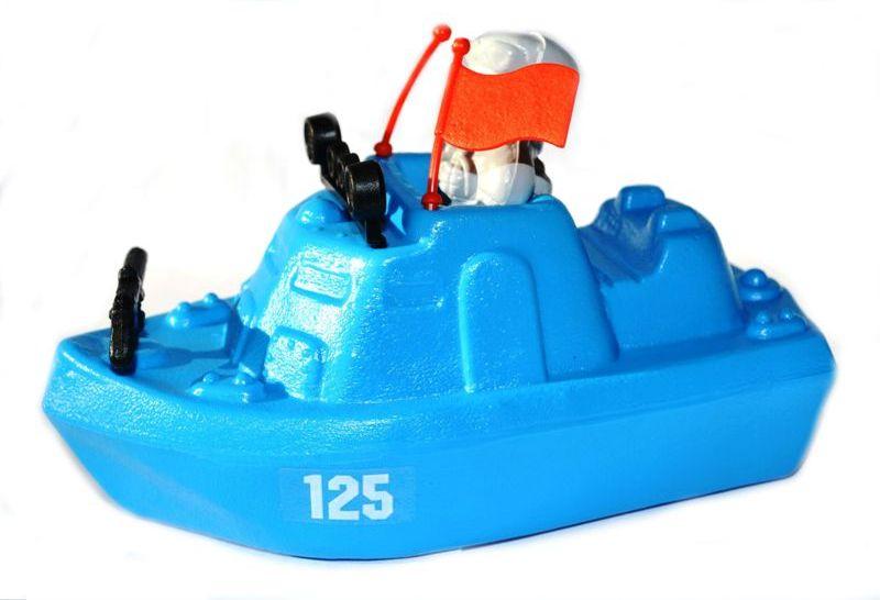 Катер патрульный с солдатиком - ПатриотКорабли и катера в ванну<br>Катер патрульный с солдатиком - Патриот<br>