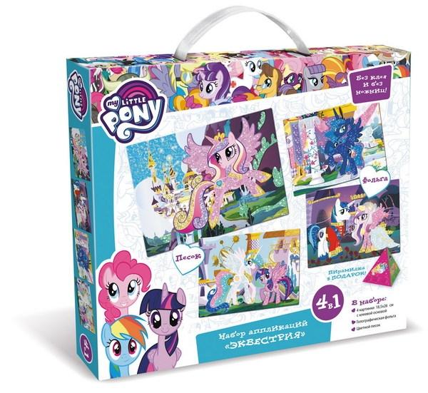 Набор аппликаций 4 в 1. My little pony™ - ЭквестрияМоя маленькая пони (My Little Pony)<br>Набор аппликаций 4 в 1. My little pony™ - Эквестрия<br>