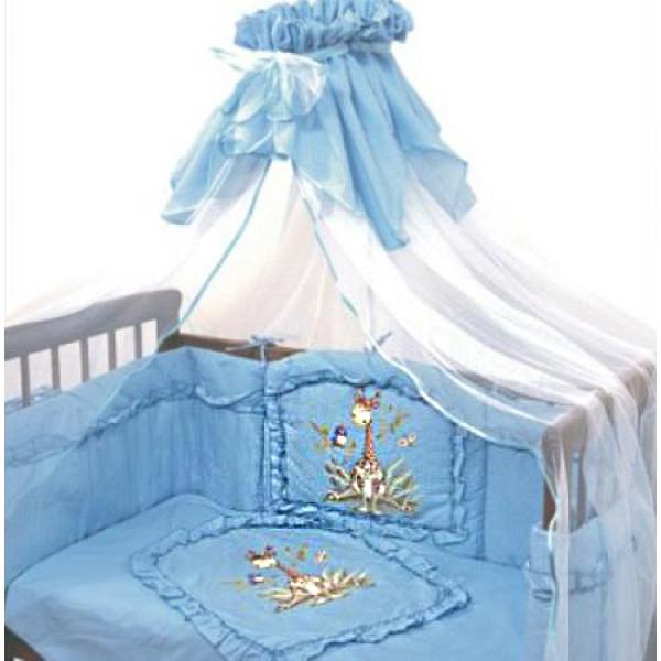 Постельное белье Аленка, 3 предмета, цвет – голубойДетское постельное белье<br>Постельное белье Аленка, 3 предмета, цвет – голубой<br>