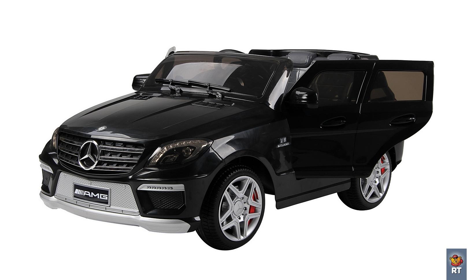Электромобиль RT ML63 Mercedes-Bens AMG 12V R/C black с резиновыми колесамиЭлектромобили, детские машины на аккумуляторе<br>Электромобиль RT ML63 Mercedes-Bens AMG 12V R/C black с резиновыми колесами<br>