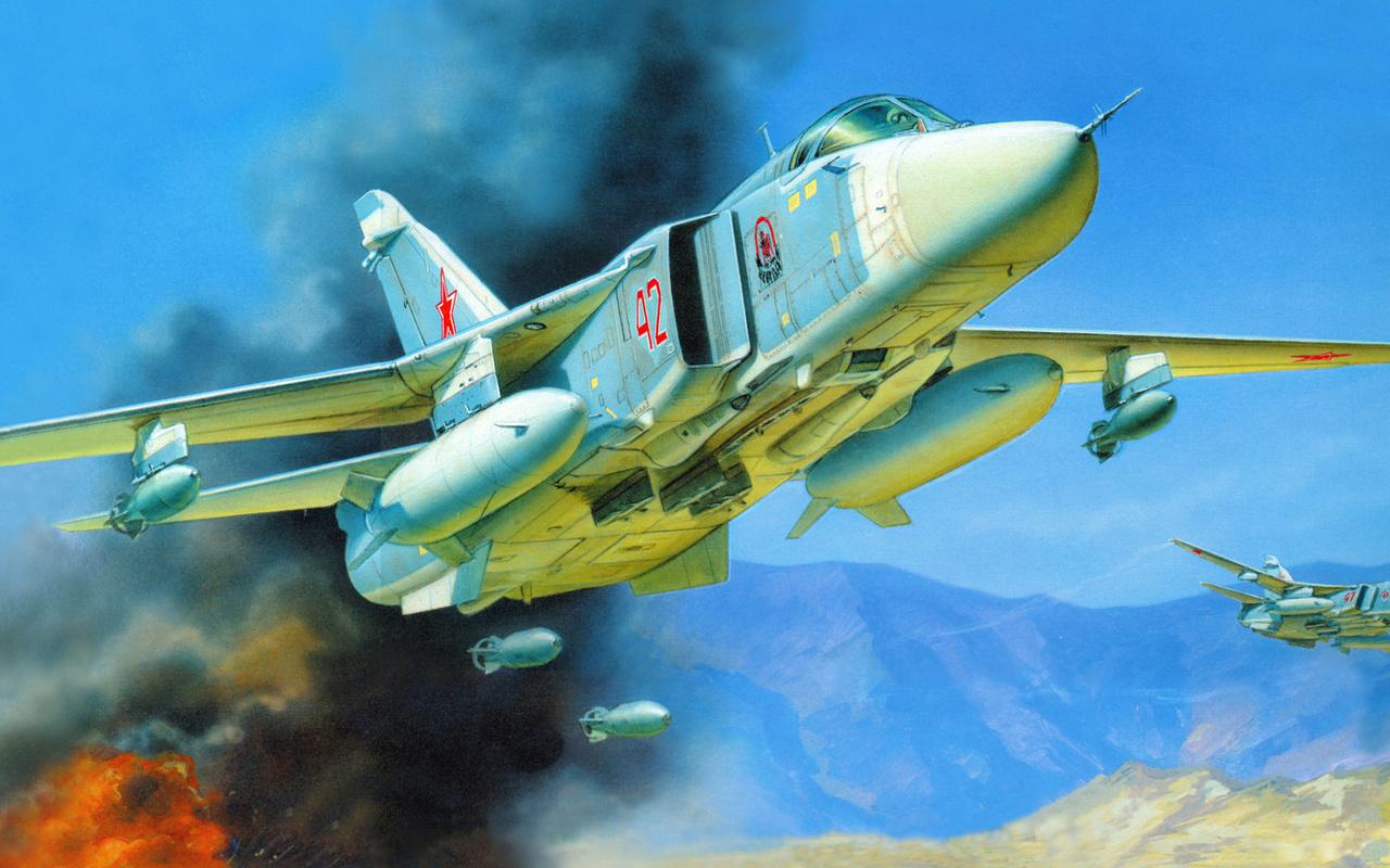 Подарочный набор. Модель для склеивания  Самолёт Су-24М - Модели для склеивания, артикул: 98713