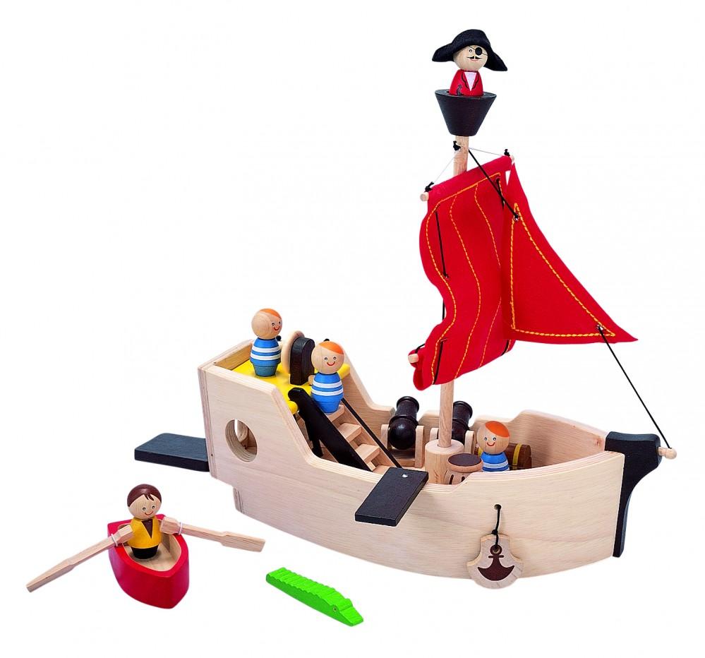 Купить Игровой набор – Пиратский корабль, Plan Toys
