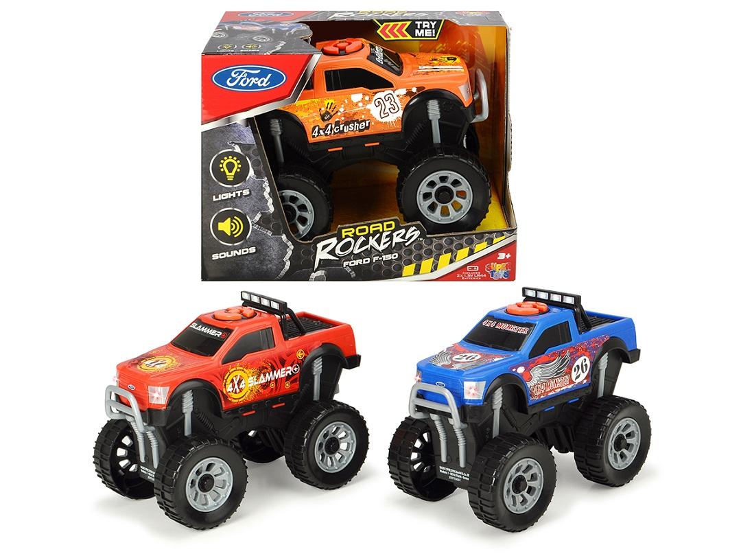 Купить Машина монстр-трак Форд F-150, свободный ход, свет, звук, 18 см, 3 вида, Dickie Toys