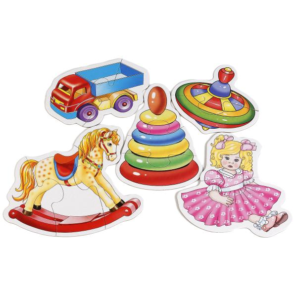 Макси-пазлы – Первые предметы для малышей, 8 картинокПазлы для малышей<br>Макси-пазлы – Первые предметы для малышей, 8 картинок<br>