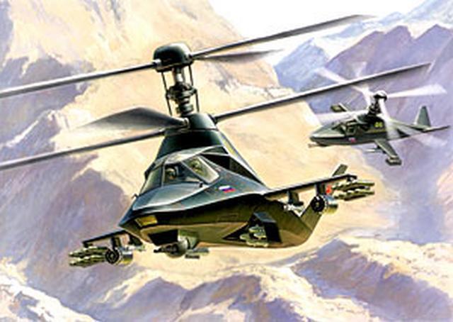 Модель для склеивания - Вертолёт Ка-58 Чёрный призракМодели вертолетов для склеивания<br>Модель для склеивания - Вертолёт Ка-58 Чёрный призрак<br>
