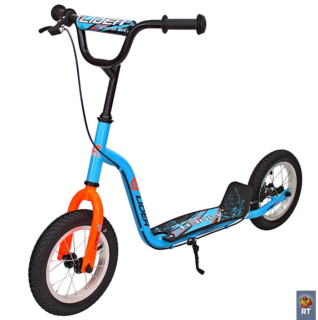 Самокат 2-х колесный 12 - Velolider Cool, синийДвухколесные самокаты<br>Самокат 2-х колесный 12 - Velolider Cool, синий<br>