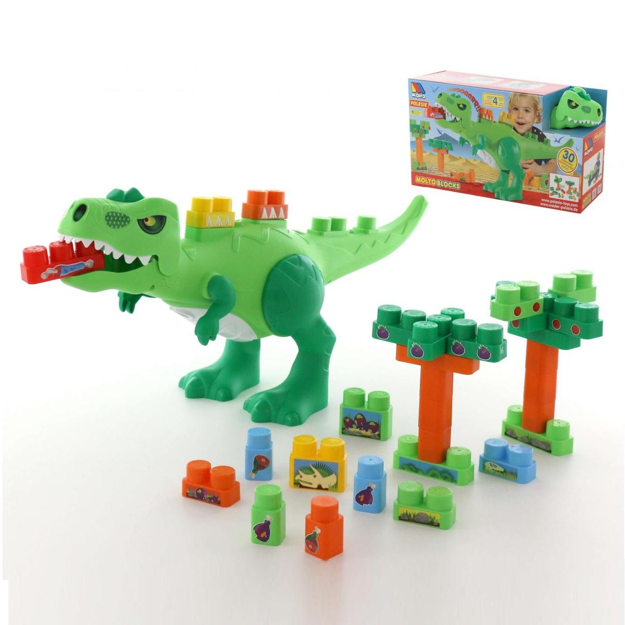 Купить Набор - Динозавр с конструктором, 30 элементов, Полесье