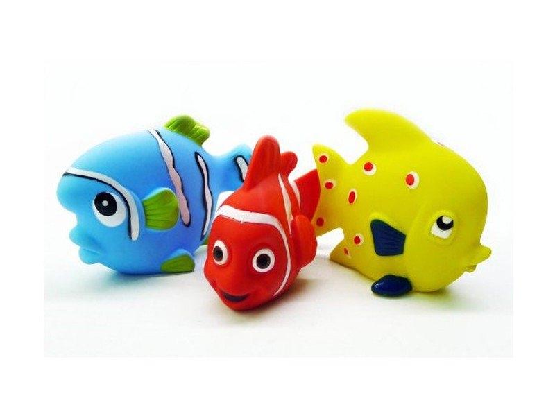 Игрушки для ванной - 3 рыбкиРезиновые игрушки<br>Игрушки для ванной - 3 рыбки<br>
