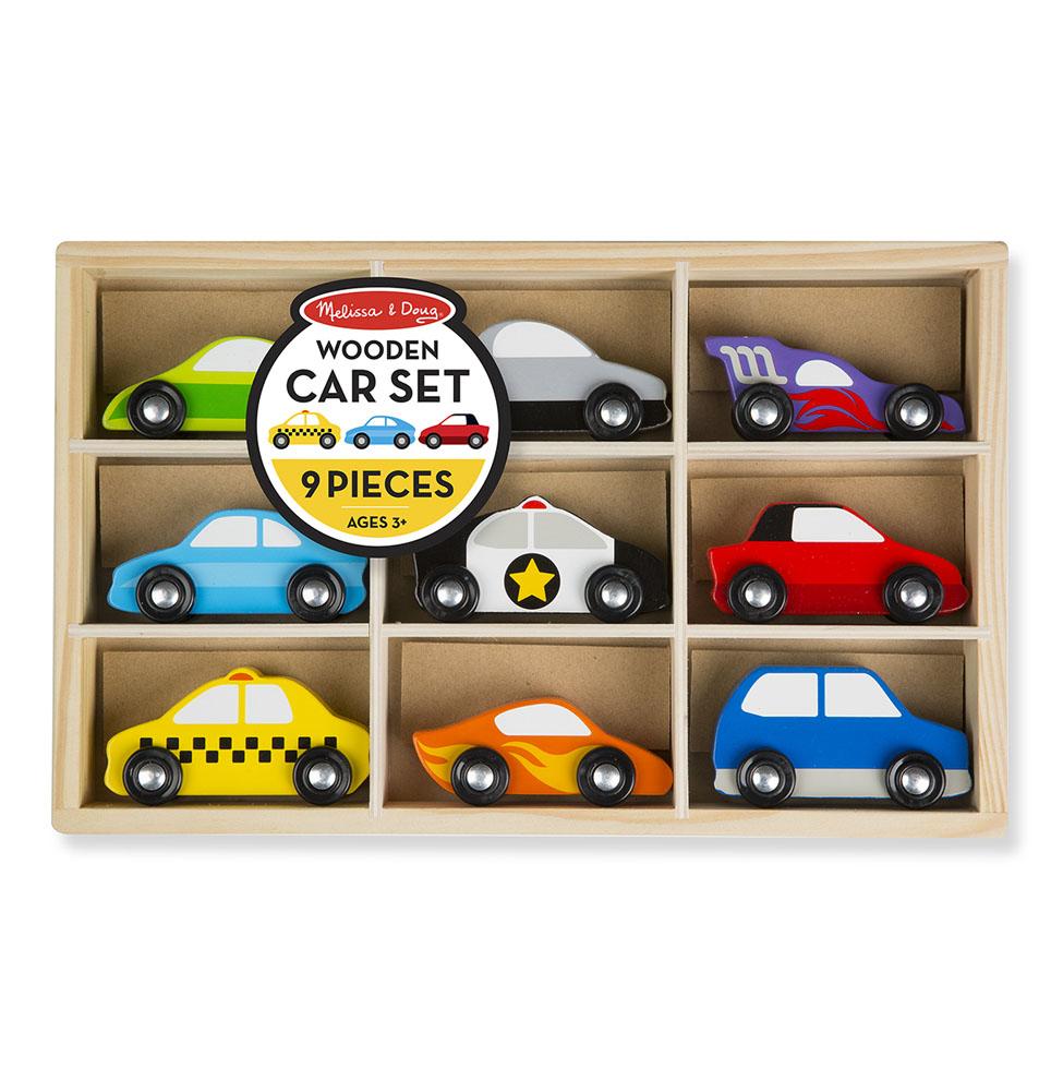 Деревянные игрушки - набор автомобилейНаборы машинок<br>Деревянные игрушки - набор автомобилей<br>