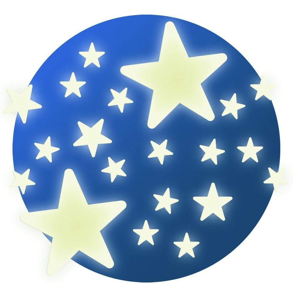 Наклейки на стену - Звездочки, светятся в темноте