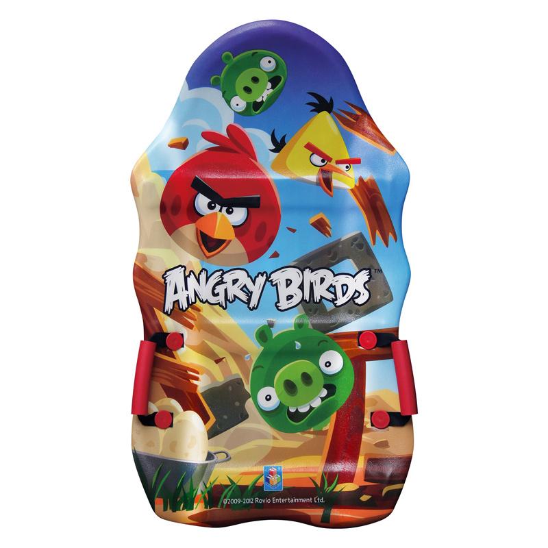 Купить Ледянка выпуклая с плотными ручками - Angry Birds, длиной 94 см, 1TOY