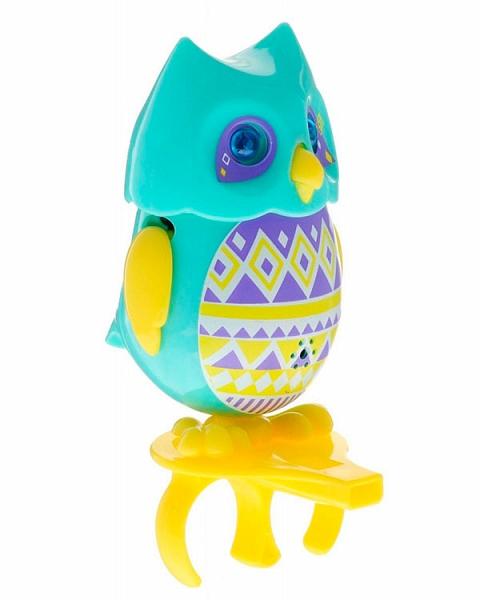 Сова с кольцом, голубая с желтыми крыльямиИнтерактивные птички DigiBirds<br>Сова с кольцом, голубая с желтыми крыльями<br>