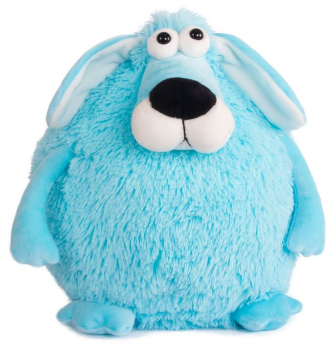 Мягкая игрушка Собачка - кругляш синий, 27 см.Собаки<br>Мягкая игрушка Собачка - кругляш синий, 27 см.<br>