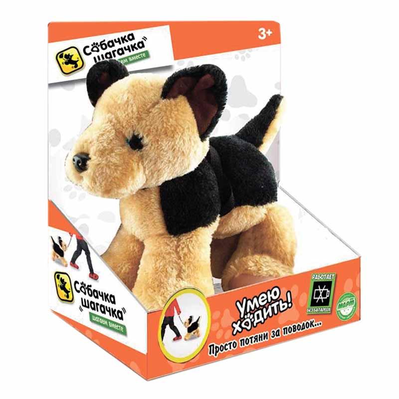 Мягкая игрушка Собачка-шагачка - Овчарка, 25 смСобаки<br>Мягкая игрушка Собачка-шагачка - Овчарка, 25 см<br>