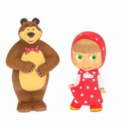 Игрушки для ванной – Маша и Медведь, в сеткеРезиновые игрушки<br>Игрушки для ванной – Маша и Медведь, в сетке<br>
