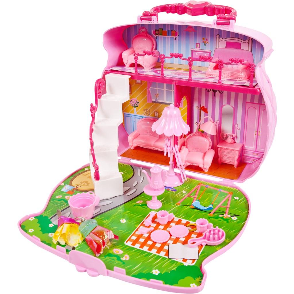 Домик-сумка для куклы с аксессуарами из серии В гостях у куклы