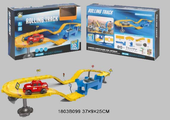 Купить Трек с машинкой и аксессуарами SY33504, 26 деталей