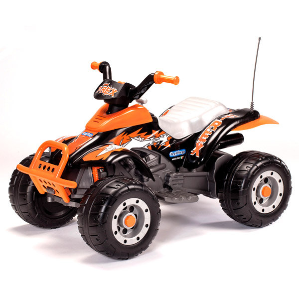 Оранжевый квадроцикл Peg-Perego Corral T-Rex OR0066Детские квадроциклы на аккумуляторе<br><br>