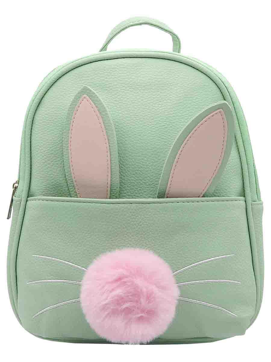 Рюкзак Зайчик с хвостиком и ушками, зеленый