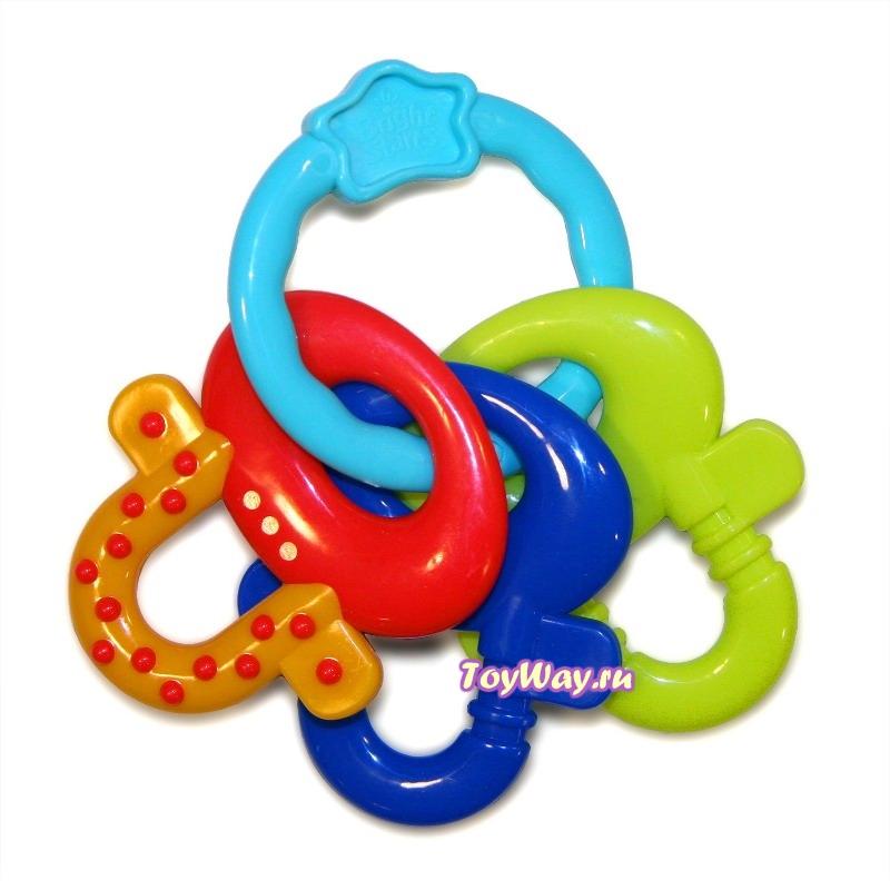 Развивающая игрушка-прорезыватель «Ключи от улыбок»Детские погремушки и подвесные игрушки на кроватку<br>Развивающая игрушка-прорезыватель «Ключи от улыбок»<br>