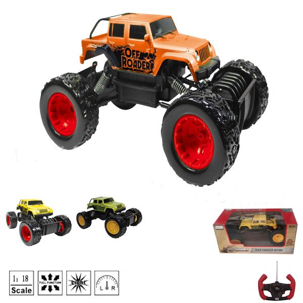 Радиоуправляемая игрушечная машинка Rock Crawler Action, масштаб 1:18Трюковые<br>Радиоуправляемая игрушечная машинка Rock Crawler Action, масштаб 1:18<br>