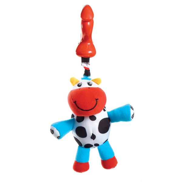 Подвеска погремушка малыш телёнок Кузя 1 - Детские погремушки и подвесные игрушки на кроватку, артикул: 49051