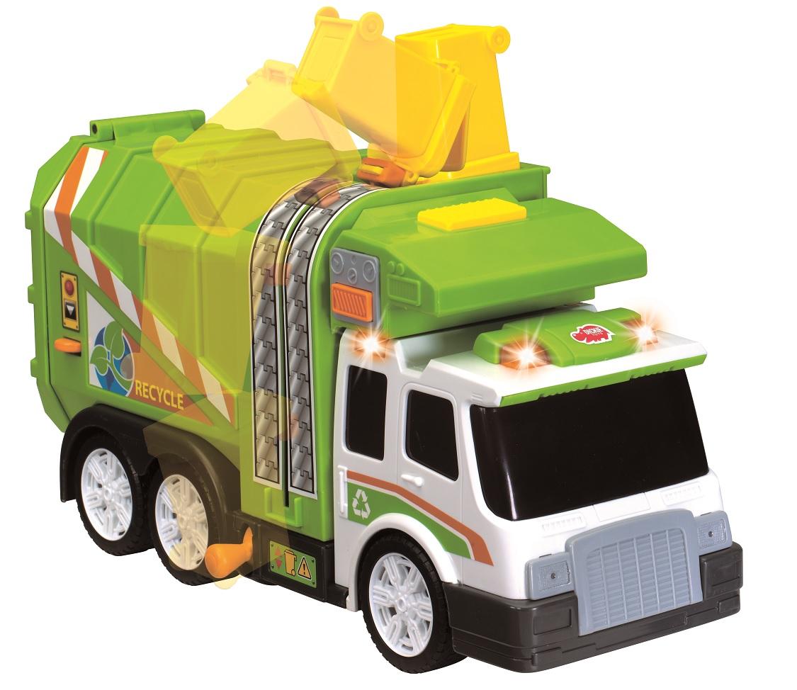 Функциональный игрушечный мусоровоз со свободным ходом, с эффектами звука и светаГородская техника<br>Функциональный игрушечный мусоровоз со свободным ходом, с эффектами звука и света<br>