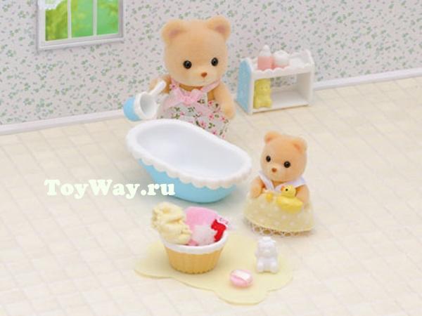 Набор  Мама купает малыша  - Игрушки Sylvanian Families, артикул: 97517