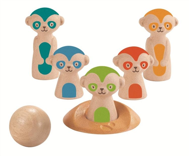 Купить Игровой набор – Боулинг. Сурикаты, Plan Toys