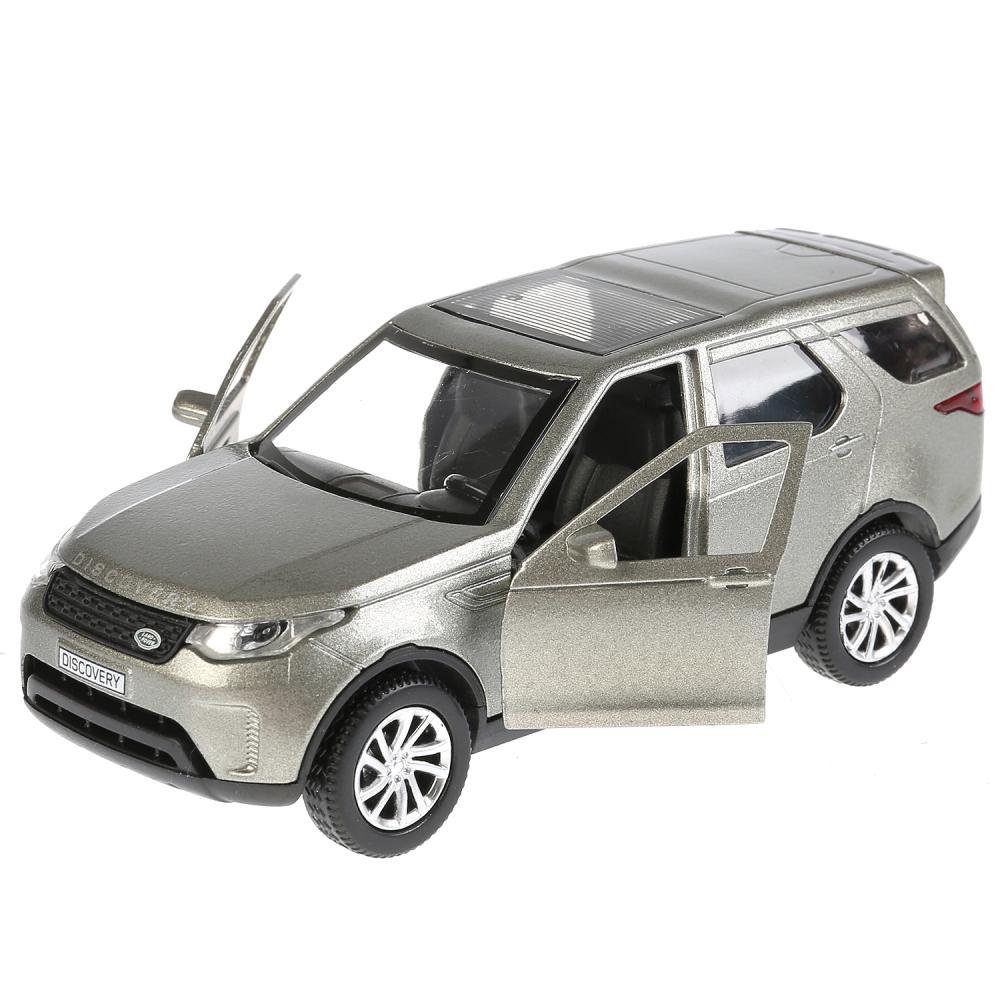 Купить Машина инерционная металлическая - Land Rover Discovery, 12 см, цвет серый открываются двери, Технопарк